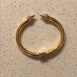 Vita Fede Gold Tone Crystal Cuff Bracelet